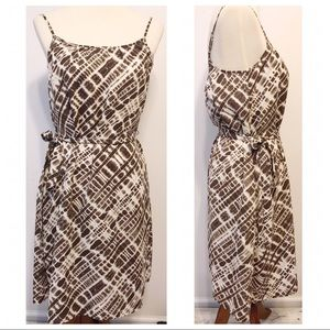 NWT Banana Republic Brown Ivory Print Summer Dress